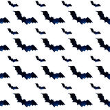 Halloween pattern of flying bats. Watercolor background Stock Photo