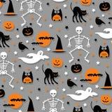 Halloween pattern orange gray Stock Photo