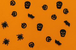 Halloween pattern orange Stock Photos