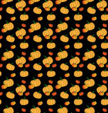 Halloween pattern with pumpkin Stock Images