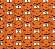 Halloween pattern. Pumpkin Seamless background. Stock Photography
