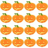 Halloween Pattern with pumpkins and faces. Seamless pattern of pumpkins for the holiday of Halloween from simple shapes and contours Stock Photos
