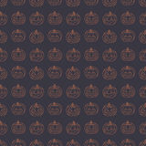 Halloween pattern with pumpkins Royalty Free Stock Photography