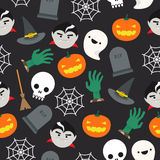 Halloween Pattern. Seamless background with halloween pattern Royalty Free Stock Photography