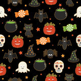 Halloween pattern Royalty Free Stock Photo