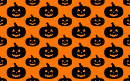 Halloween pattern. Halloween seamless pattern with pumpkins on orange background Royalty Free Stock Photography