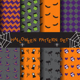 Halloween pattern set. 10 different halloween patterns. Endless texture can be used for wallpaper, pattern fills, web page,background,surface Royalty Free Stock Photos