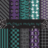 Halloween pattern set 13. 10 different halloween patterns. vector, Endless texture can be used for wallpaper, pattern fills, web page,background,surface Stock Illustration