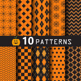 Halloween pattern set Stock Images