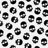 Halloween pattern with skulls Royalty Free Stock Images