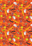 Halloween pattern trick or treat , Candy lollipop background Stock Photos
