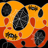 Halloween pattern. Vector illustration. Halloween pattern whith spiders. Vector illustration Stock Images