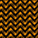 Halloween pattern with zig zag lines Royalty Free Stock Images