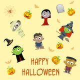 Halloween Patterned Background Stock Photos