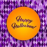 Halloween patterned greeting card Royalty Free Stock Photography