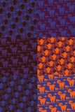 Halloween patterns collection Stock Images