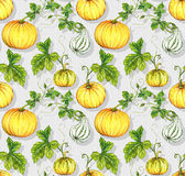 Halloween patterns. kurbis pumpkin seamless design. Seamless squash halloween pattern. Amazing detailed stylish illustrations, with pastel colors, for upholstery Royalty Free Stock Photos