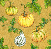 Halloween patterns. kurbis pumpkin seamless design Royalty Free Stock Photo