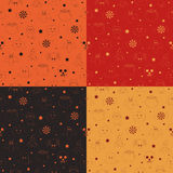 Halloween patterns Royalty Free Stock Photography
