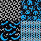 Halloween Patterns. Set of patterns for October 31st. It has a retro eighties style Royalty Free Stock Image