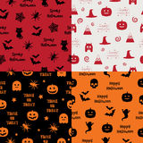 Halloween patterns Stock Images
