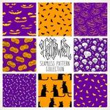 Halloween patterns Royalty Free Stock Image