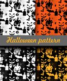 Halloween patterns set. Vector illustration Stock Images