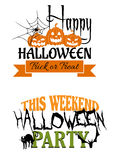 Halloween paty designs Royalty Free Stock Photography