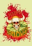 Halloween, payaso diabólico Foto de archivo libre de regalías