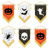 Halloween pennants Stock Photos