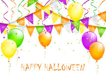 Halloween pennants and balloons Stock Image