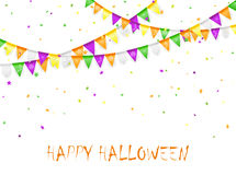Halloween pennants and confetti Stock Photo