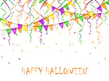 Halloween pennants and streamers Royalty Free Stock Photo