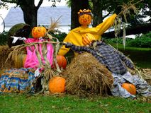 Halloween people. At Indian garden farm Bridgewater Lunenburg County Nova Scotia Canada Stock Photo