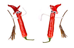 Halloween pepper witches Royalty Free Stock Image