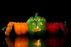Halloween peppers Stock Photography