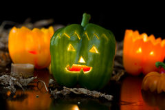 Halloween peppers Royalty Free Stock Images