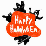Halloween perfume blurry objects vector illustration Stock Images