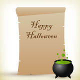 Halloween-Pergament Stockfoto