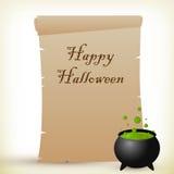 Halloween-perkament Stock Foto