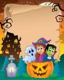 Halloween-perkament 5 vector illustratie