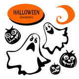 Halloween phantom characters Royalty Free Stock Images