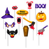 Halloween photo booth props. Accessories for festival and party Royalty Free Stock Photo