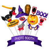 Halloween photo booth props. Accessories for festival and party Royalty Free Stock Photography