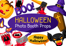 Halloween photo booth props. Accessories for festival and party Stock Image