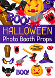 Halloween photo booth props. Accessories for festival and party Stock Images