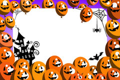 Halloween Photo Frame Balloons Party Stock Photo