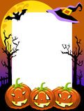 Halloween Photo Frame Scary Pumpkins Stock Photography