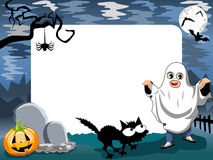 Halloween Photo Frame Phantom. Halloween photo frame, post card or page for your scrapbook Royalty Free Stock Image