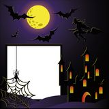 Halloween photo frame for scrapbooking.  Royalty Free Stock Image